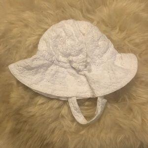 Egg by Susan Lazar Cotton Sun Hat